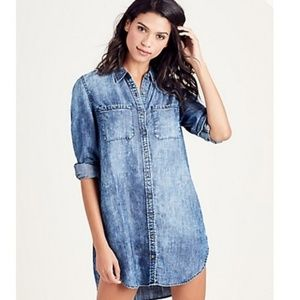 True Religion Relaxed Chambray Utility Dress XS
